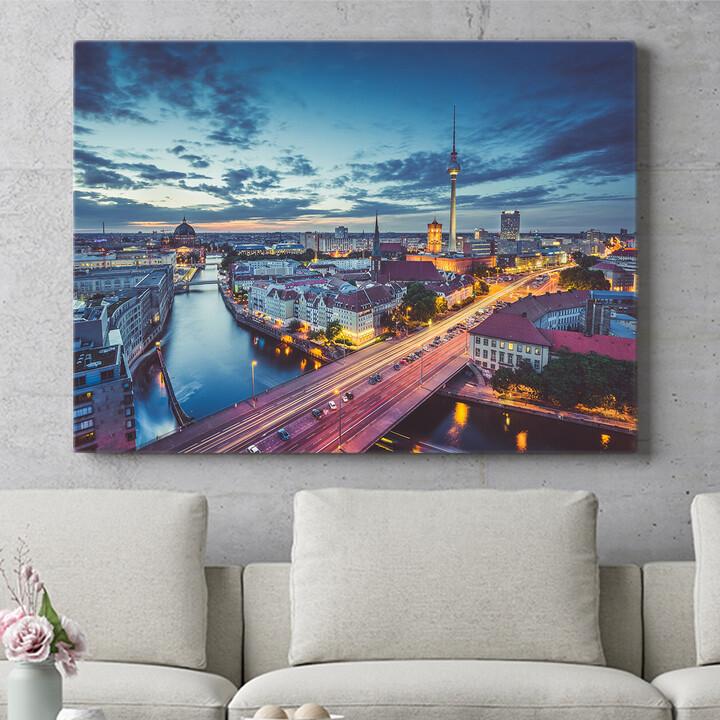 Personalisierbares Geschenk Skyline von Berlin