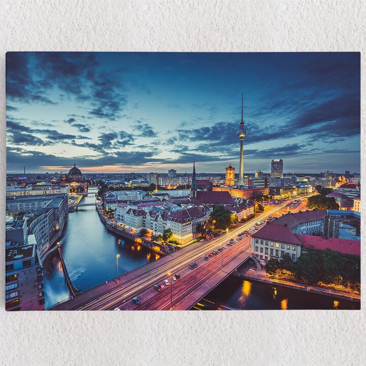 Personalisiertes Leinwandbild Skyline von Berlin