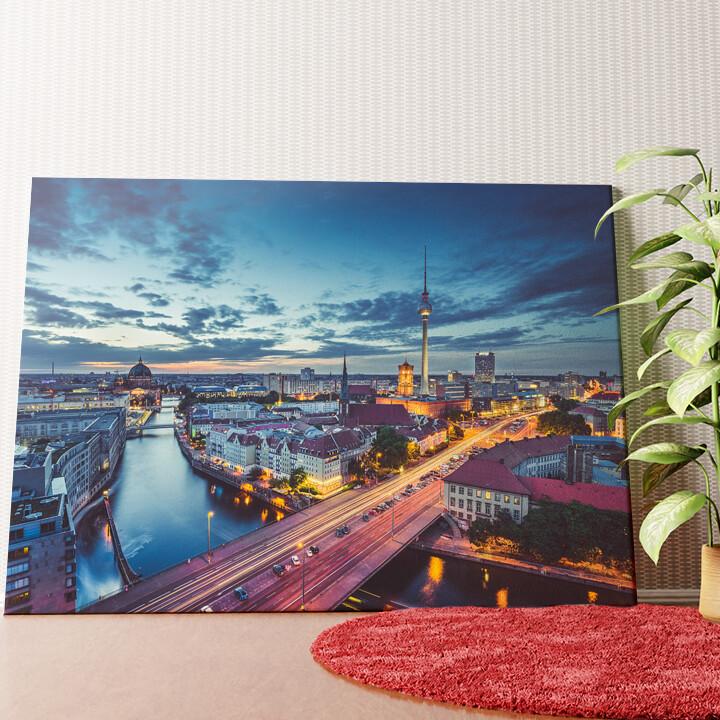 Personalisiertes Wandbild Skyline von Berlin