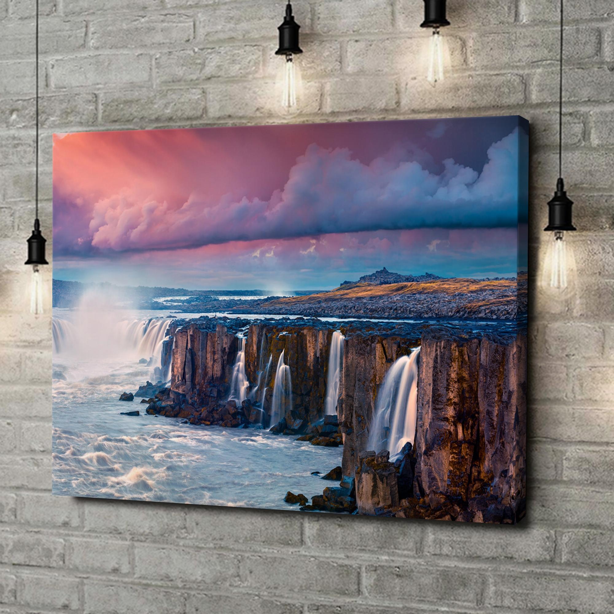 Leinwandbild personalisiert Jokulsa Fjollum Wasserfall Island