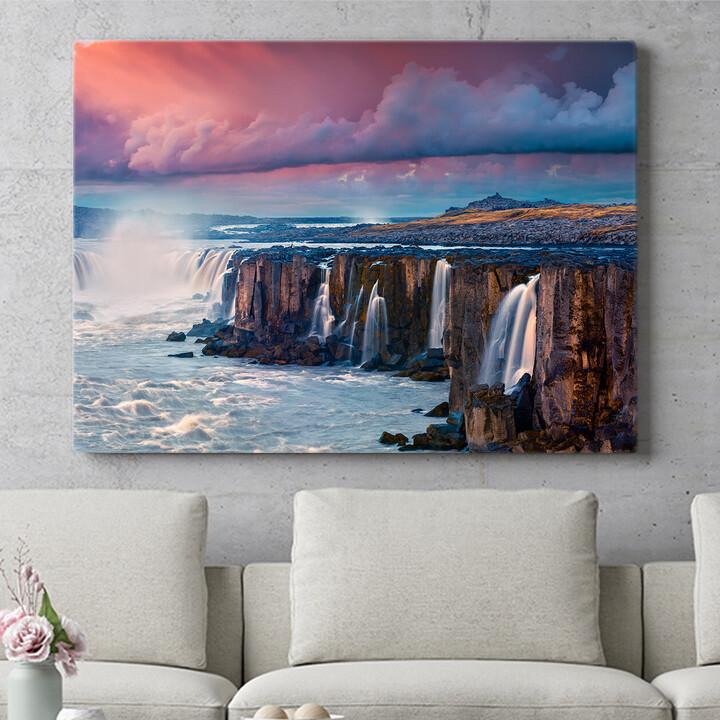 Personalisierbares Geschenk Jokulsa Fjollum Wasserfall Island