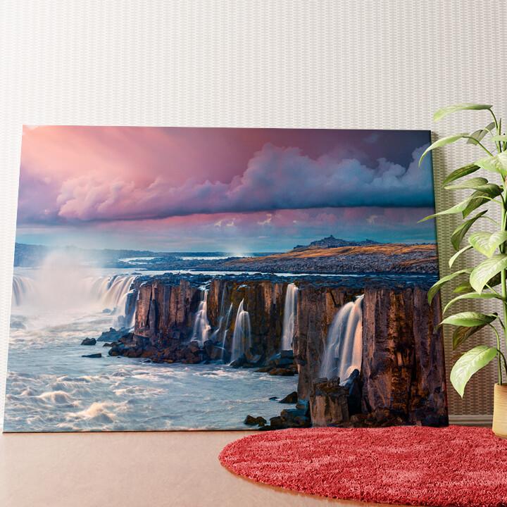 Personalisiertes Wandbild Jokulsa Fjollum Wasserfall Island