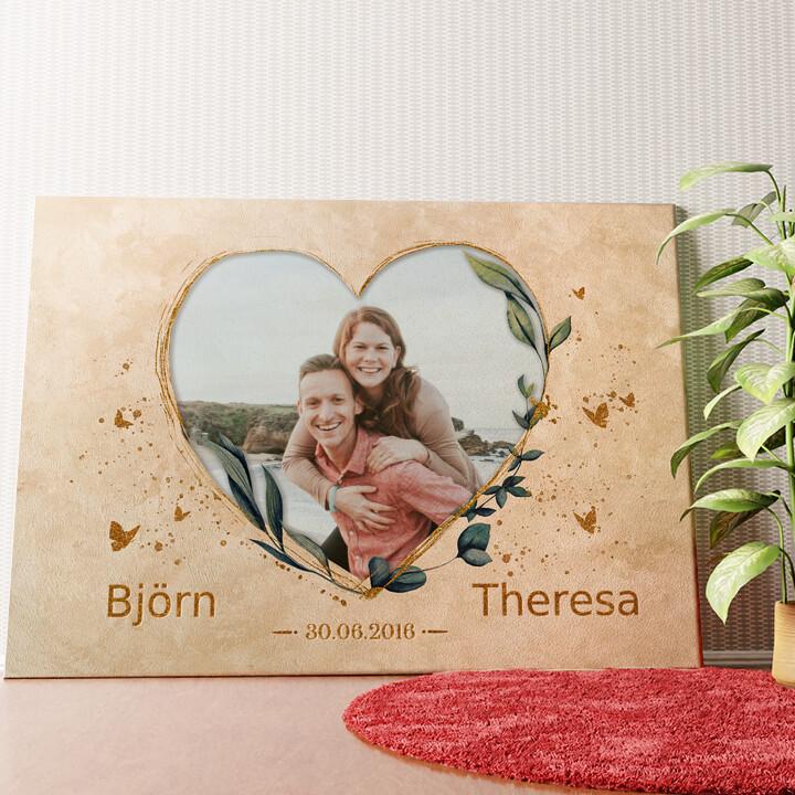 Personalisiertes Wandbild Zeit der Liebe