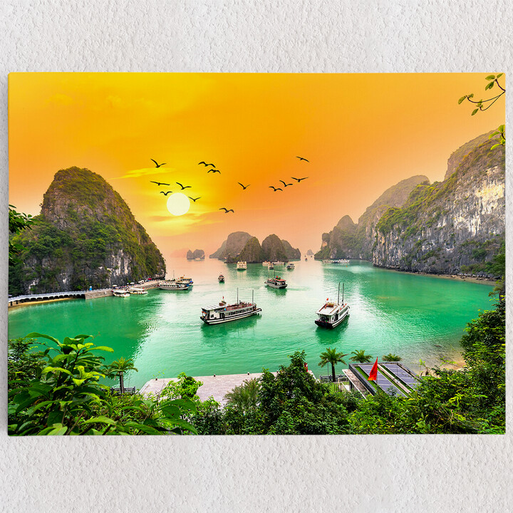 Personalisiertes Leinwandbild Halong Bay Vietnam