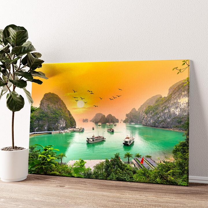 Halong Bay Vietnam Wandbild personalisiert