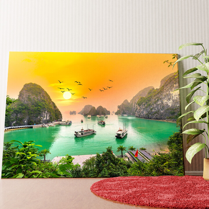 Personalisiertes Wandbild Halong Bay Vietnam
