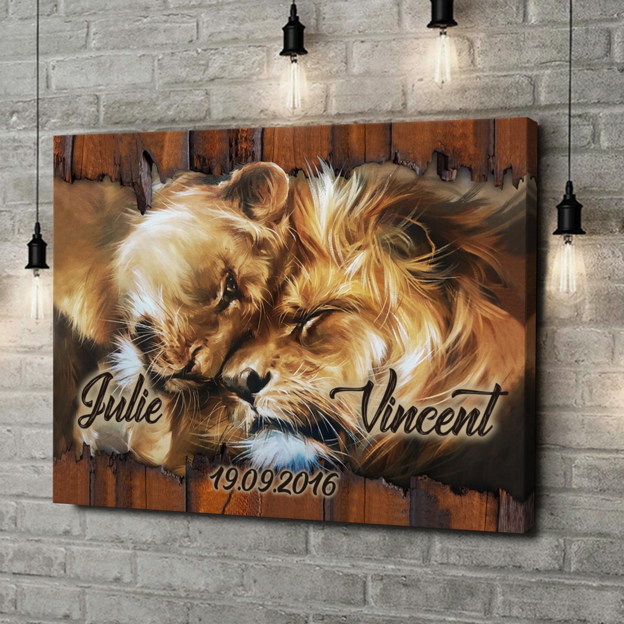 Leinwandbild personalisiert Löwenherz