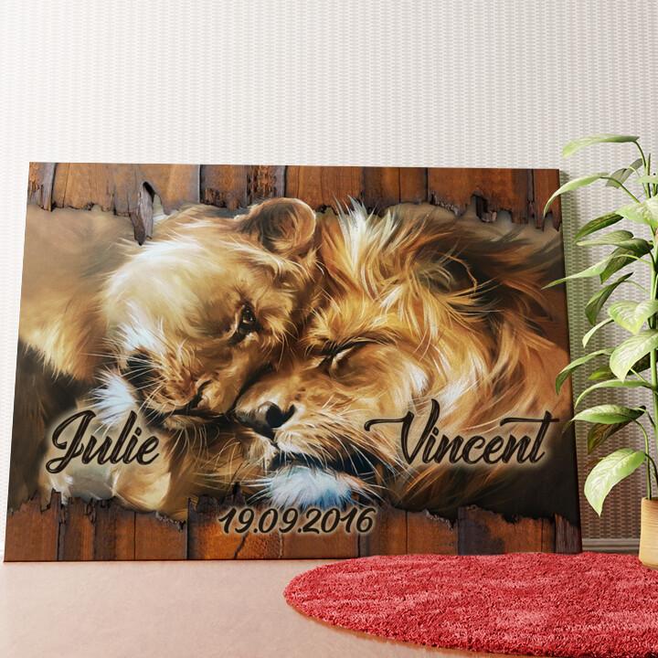 Personalisiertes Wandbild Löwenherz