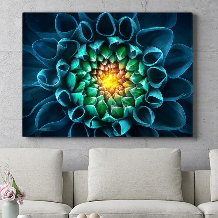 Personalisierbares Geschenk Blaugrüne Chrysantheme