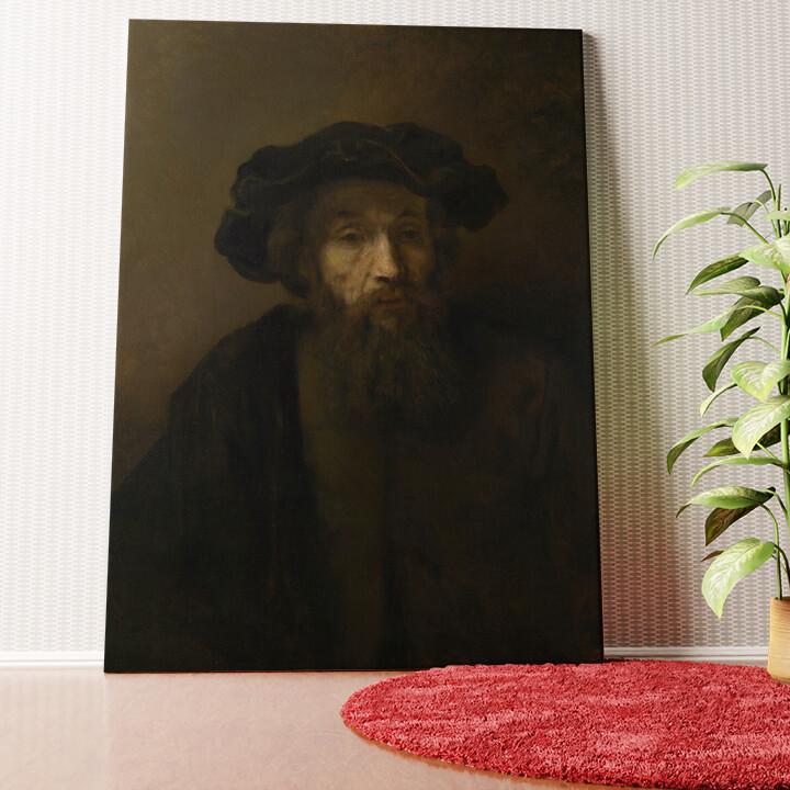 Personalisiertes Wandbild Mann mit Bart und Hut