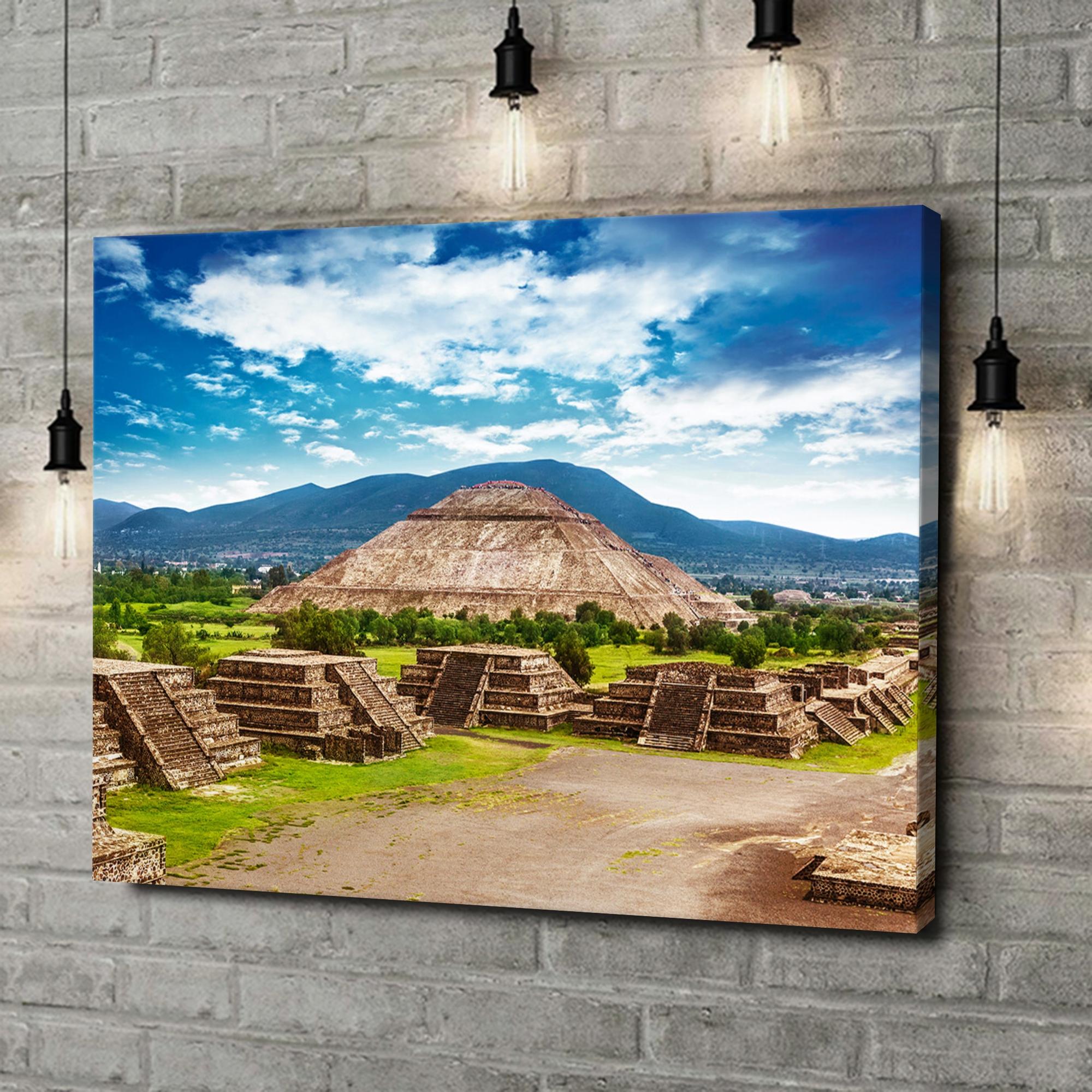 Leinwandbild personalisiert Teotihuacán Pyramiden in Mexiko