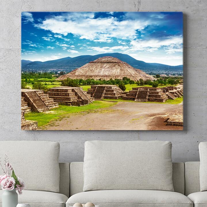 Personalisierbares Geschenk Teotihuacán Pyramiden in Mexiko