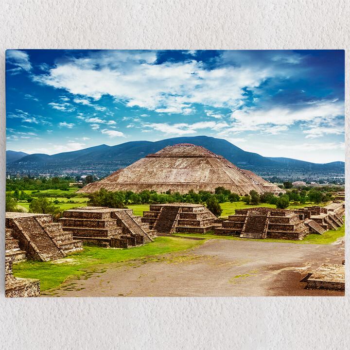 Personalisiertes Leinwandbild Teotihuacán Pyramiden in Mexiko