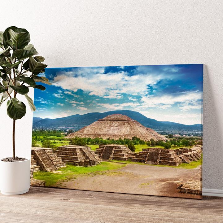 Teotihuacán Pyramiden in Mexiko Wandbild personalisiert