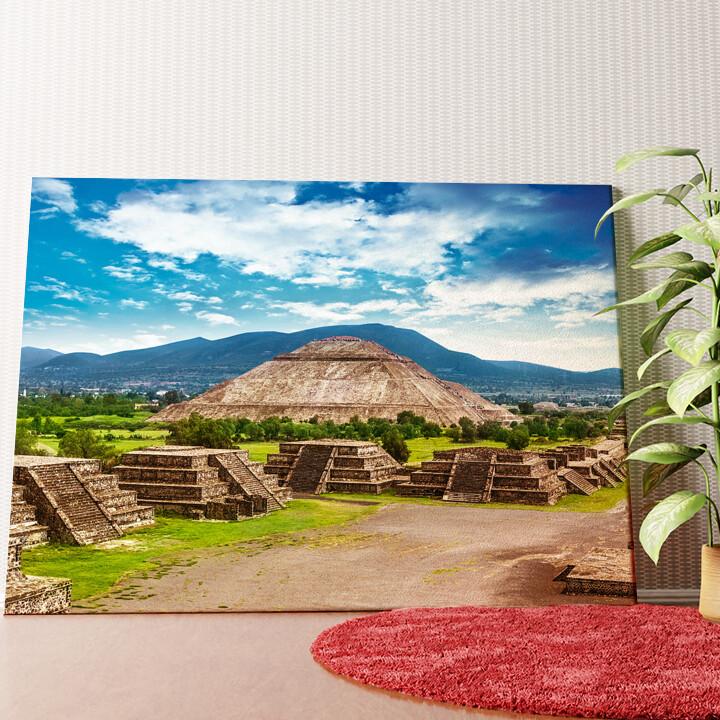 Personalisiertes Wandbild Teotihuacán Pyramiden in Mexiko
