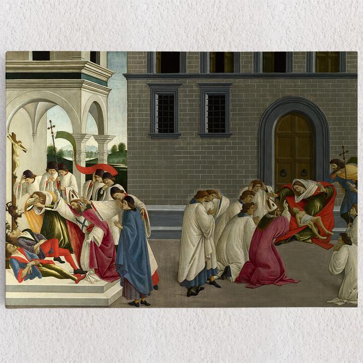 Personalisiertes Leinwandbild Die drei Wunder des heiligen Zenobius