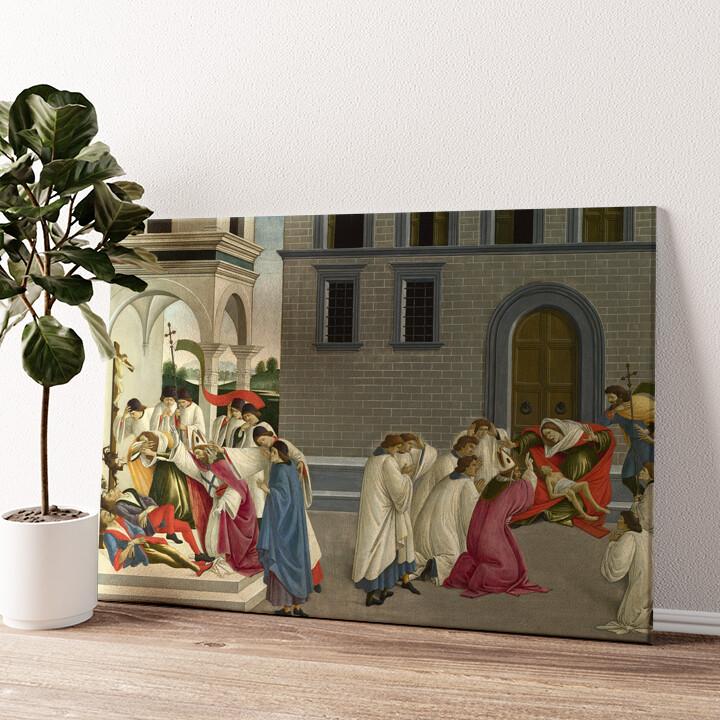 Die drei Wunder des heiligen Zenobius Wandbild personalisiert
