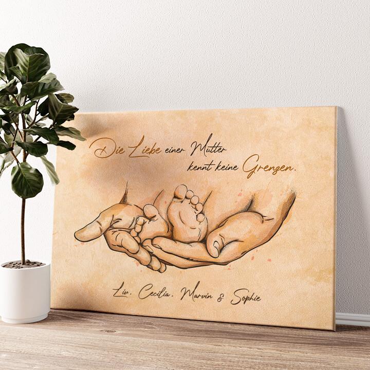 Beschützende Liebe Wandbild personalisiert
