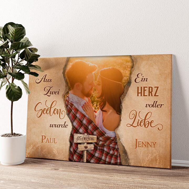 Märchen für Zwei Wandbild personalisiert