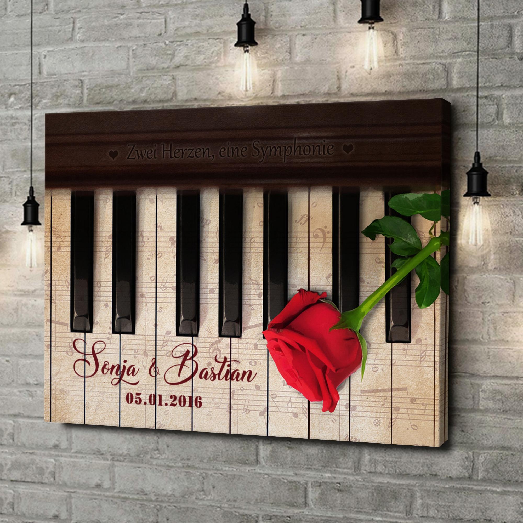 Leinwandbild personalisiert Symphonie der Herzen
