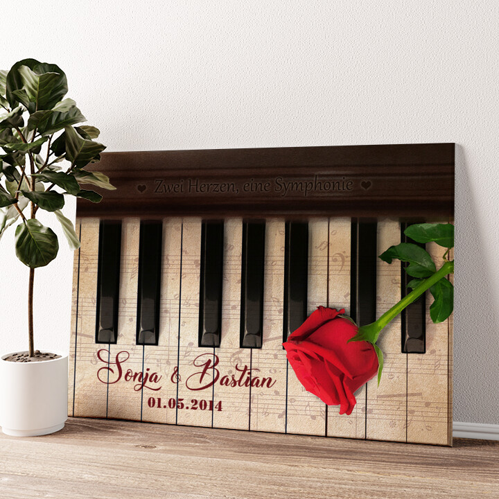 Symphonie der Herzen Wandbild personalisiert