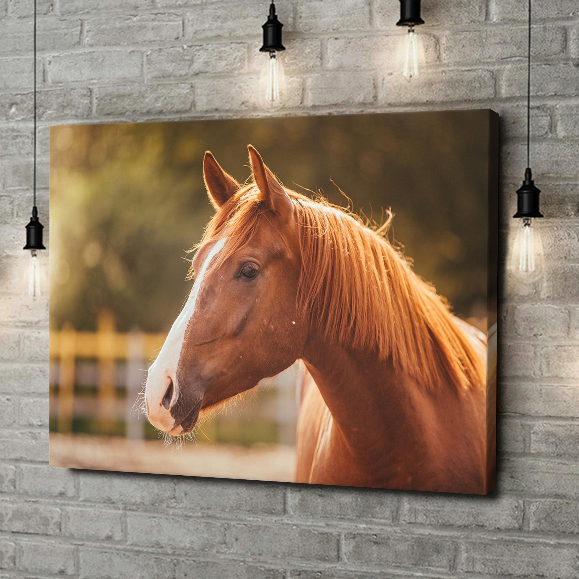 Leinwandbild personalisiert Pferd Porträt