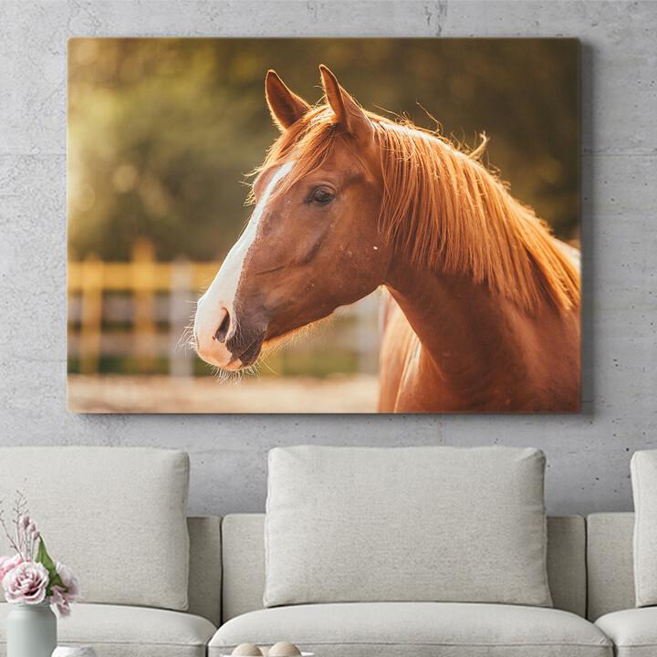 Personalisierbares Geschenk Pferd Porträt