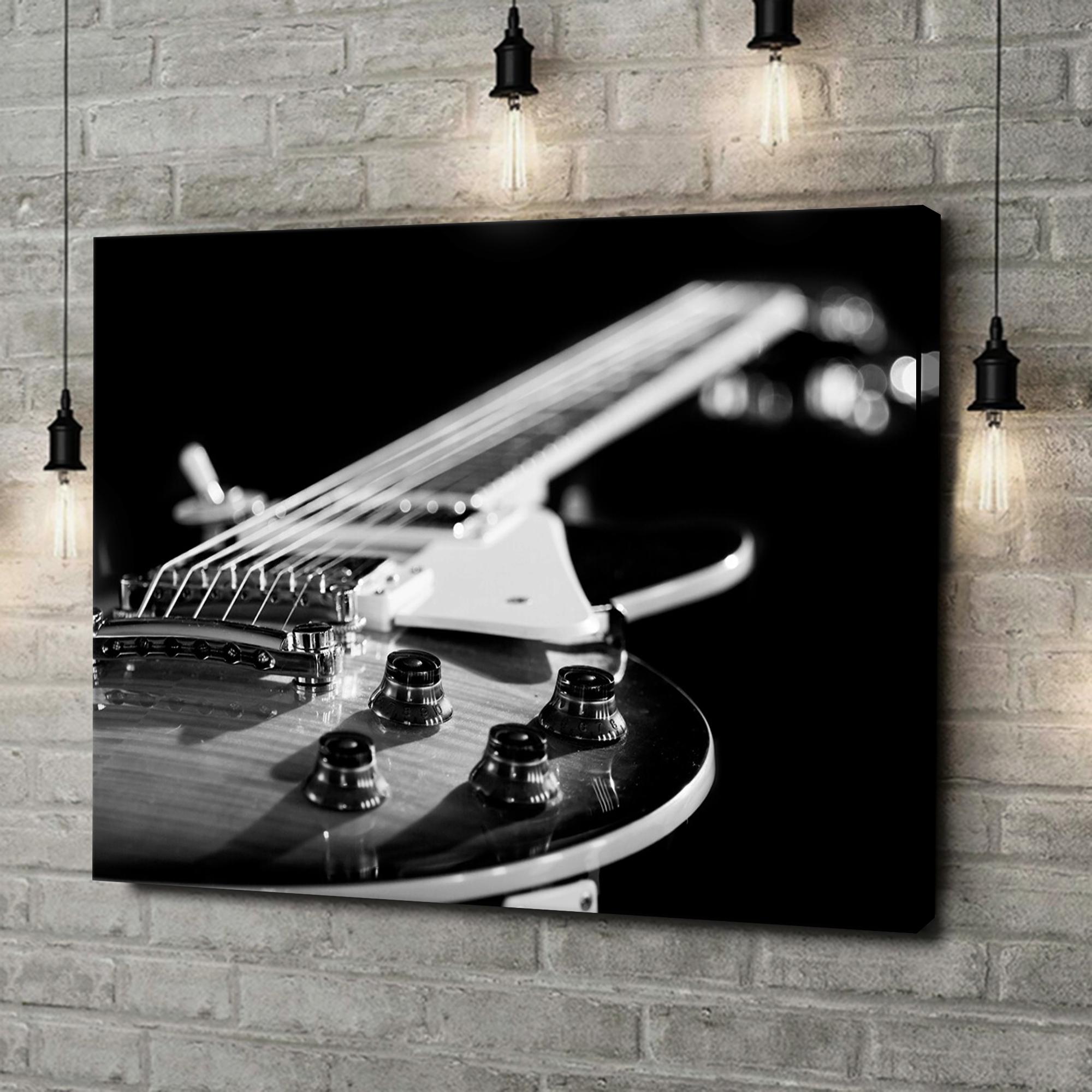 Leinwandbild personalisiert Gitarrennahaufnahme