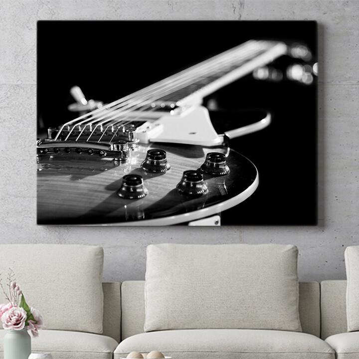 Personalisierbares Geschenk Gitarrennahaufnahme