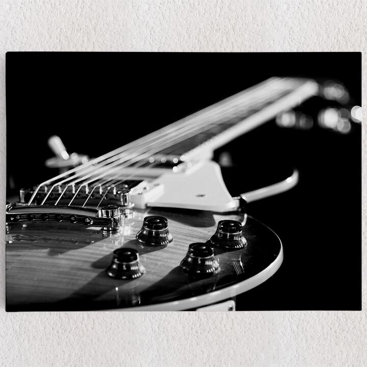 Personalisiertes Leinwandbild Gitarrennahaufnahme