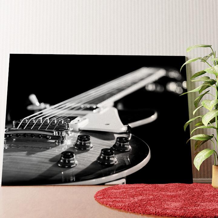 Personalisiertes Wandbild Gitarrennahaufnahme