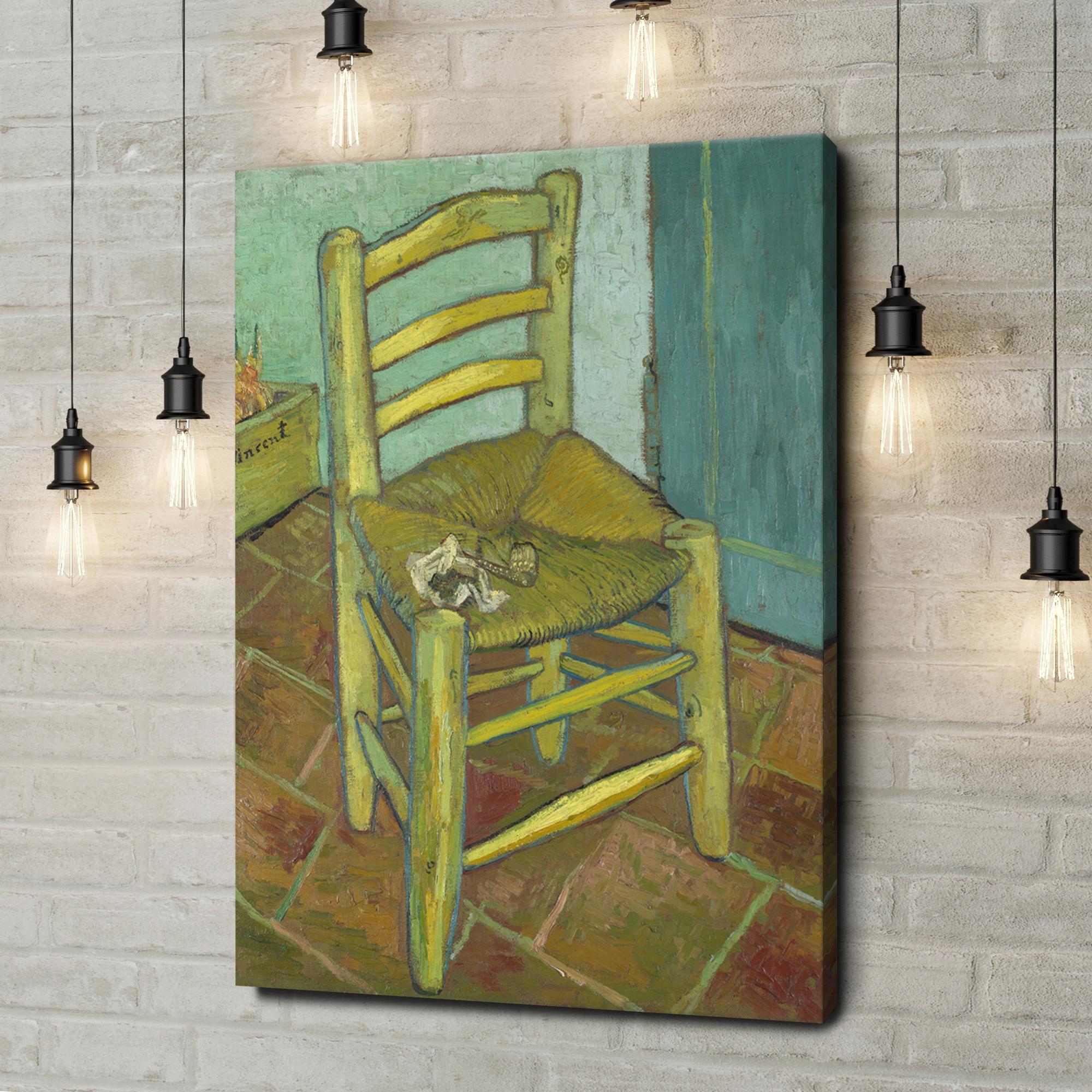 Leinwandbild personalisiert Vincents Stuhl mit Pfeife
