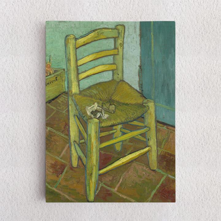 Personalisiertes Leinwandbild Vincents Stuhl mit Pfeife