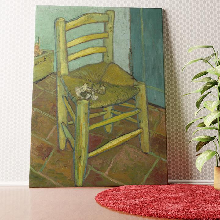 Personalisiertes Wandbild Vincents Stuhl mit Pfeife