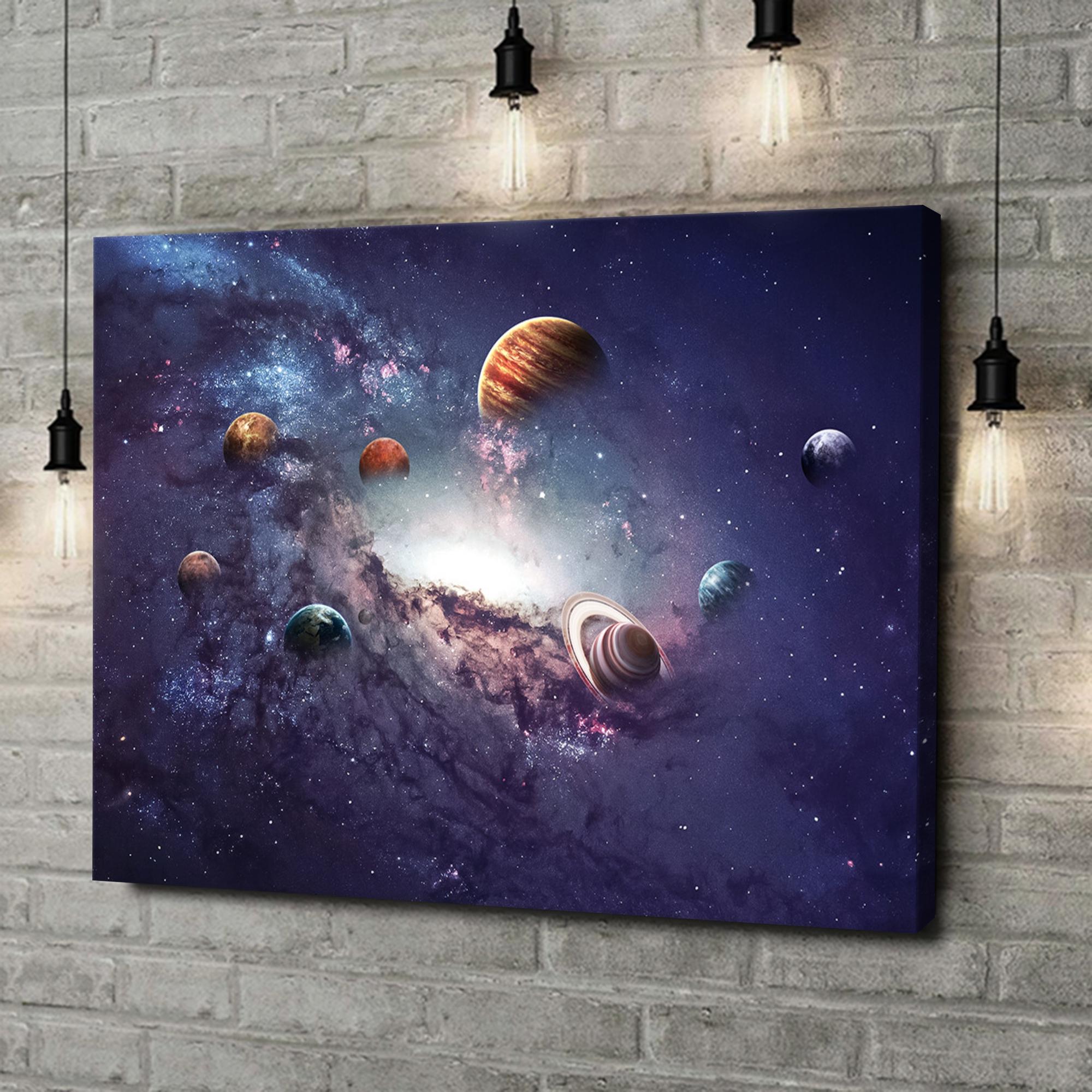 Leinwandbild personalisiert Planetensystem 2