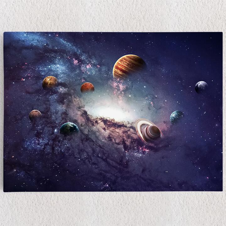 Personalisiertes Leinwandbild Planetensystem 2