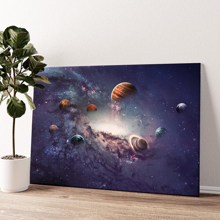 Planetensystem 2 Wandbild personalisiert
