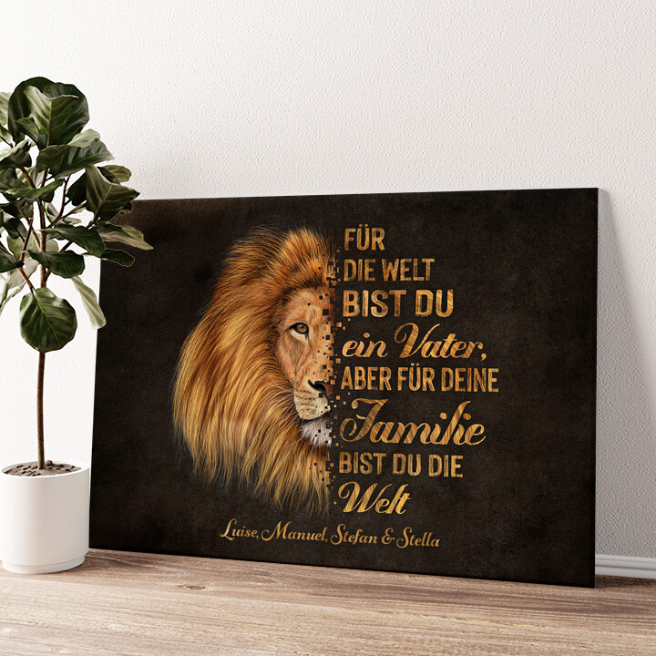 Beschützer der Familie Wandbild personalisiert