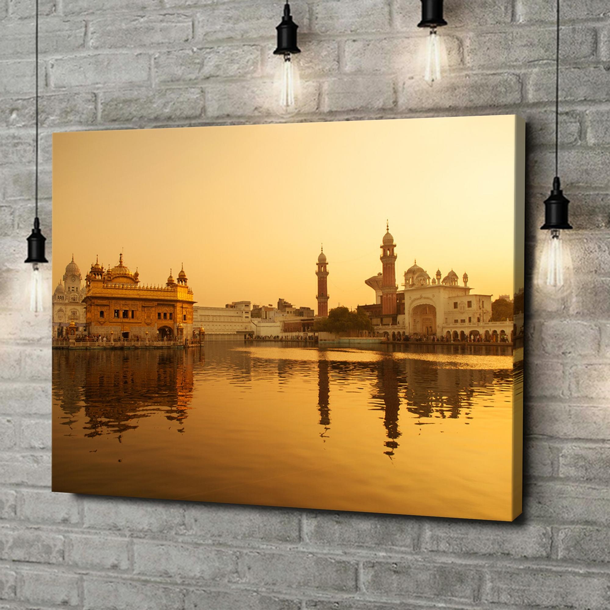 Leinwandbild personalisiert Goldener Tempel Amritsar Punjab Indien