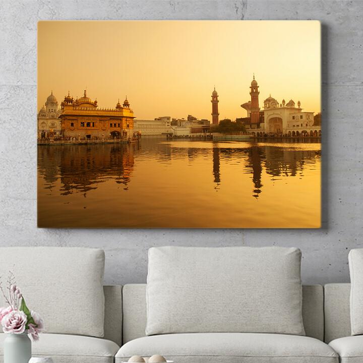 Personalisierbares Geschenk Goldener Tempel Amritsar Punjab Indien