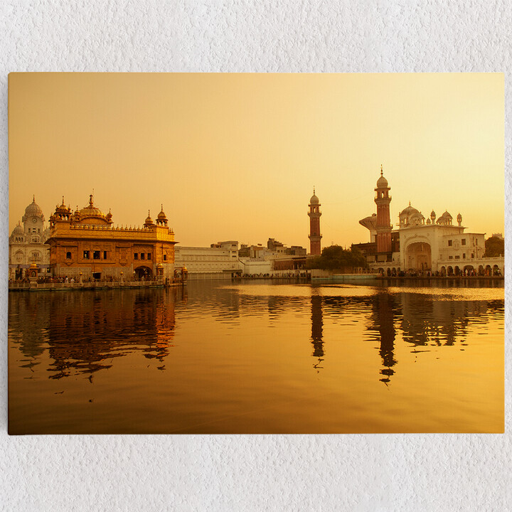 Personalisiertes Leinwandbild Goldener Tempel Amritsar Punjab Indien