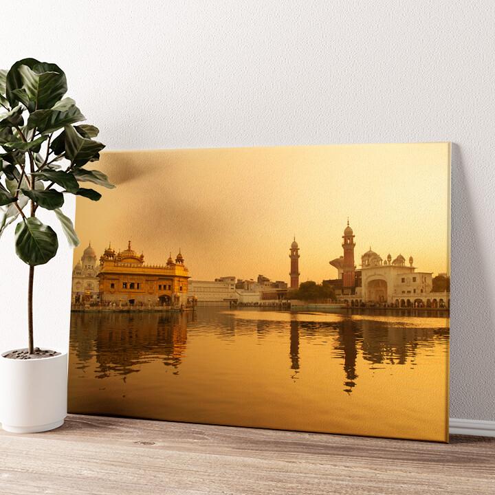 Goldener Tempel Amritsar Punjab Indien Wandbild personalisiert