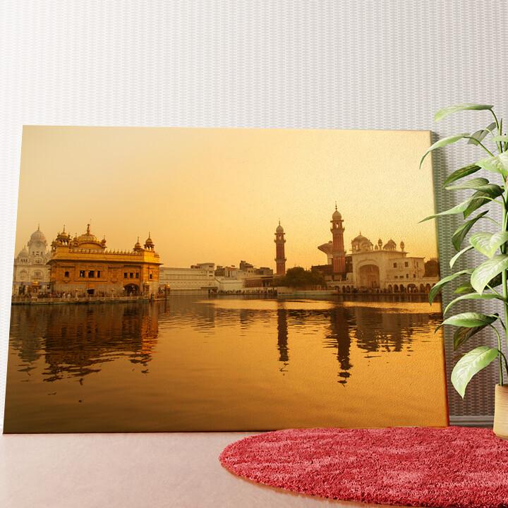 Personalisiertes Wandbild Goldener Tempel Amritsar Punjab Indien
