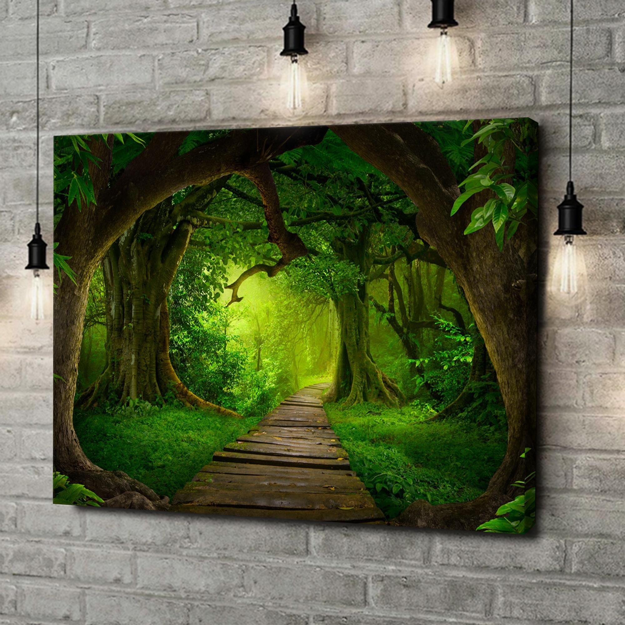 Leinwandbild personalisiert Fantasy Regenwald