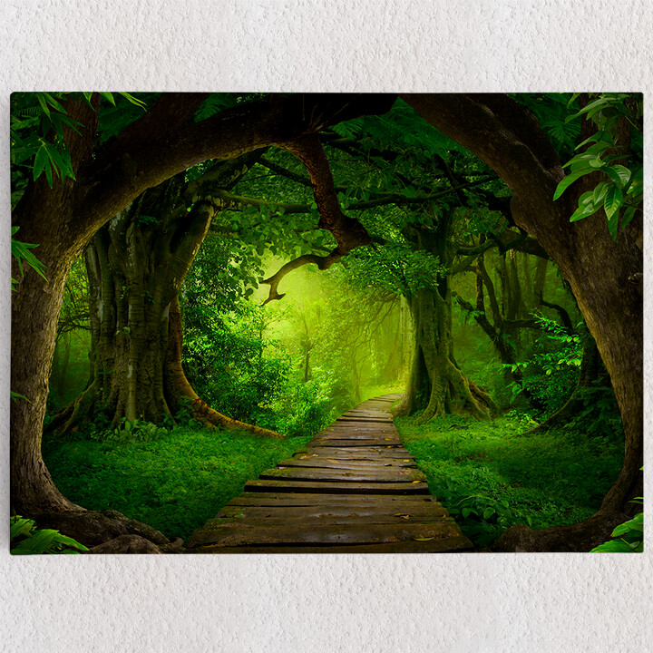 Personalisiertes Leinwandbild Fantasy Regenwald
