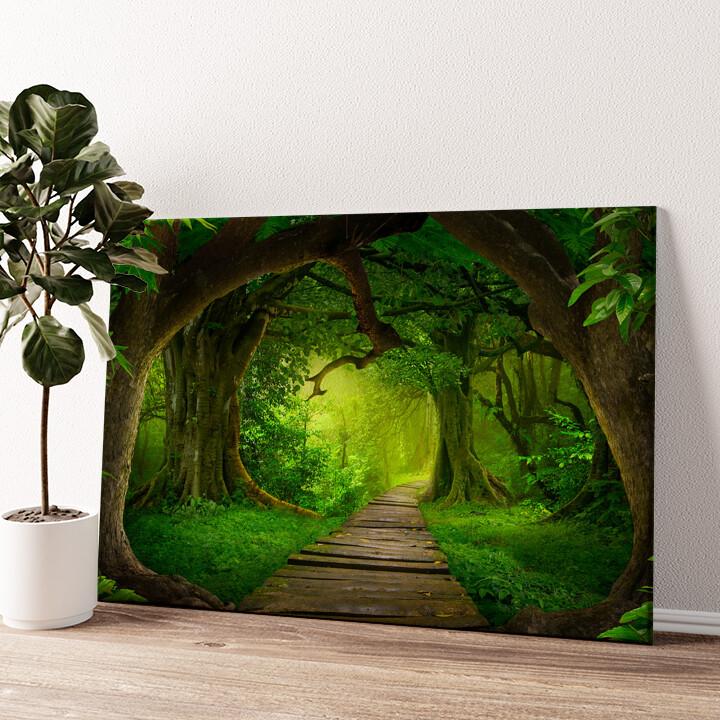Fantasy Regenwald Wandbild personalisiert