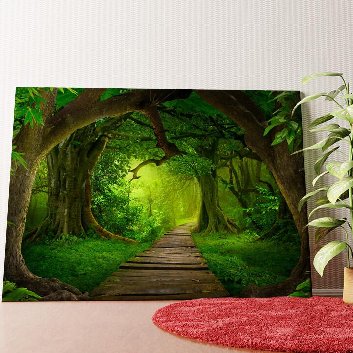 Personalisiertes Wandbild Fantasy Regenwald