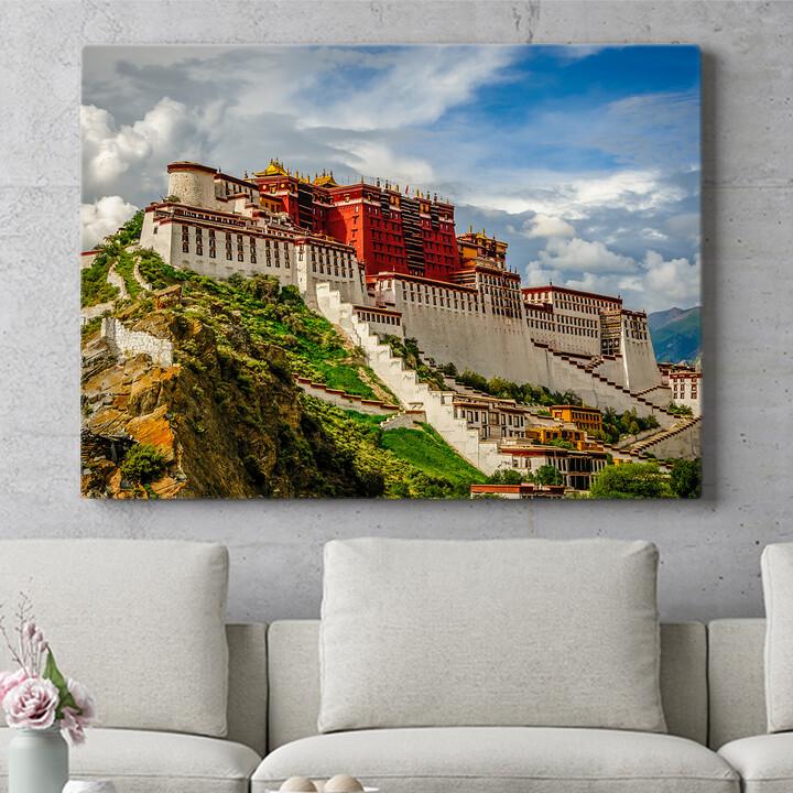 Personalisierbares Geschenk Portala Palast in Tibet