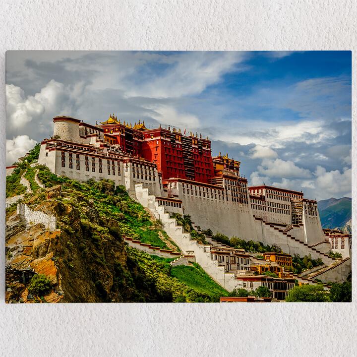 Personalisiertes Leinwandbild Portala Palast in Tibet