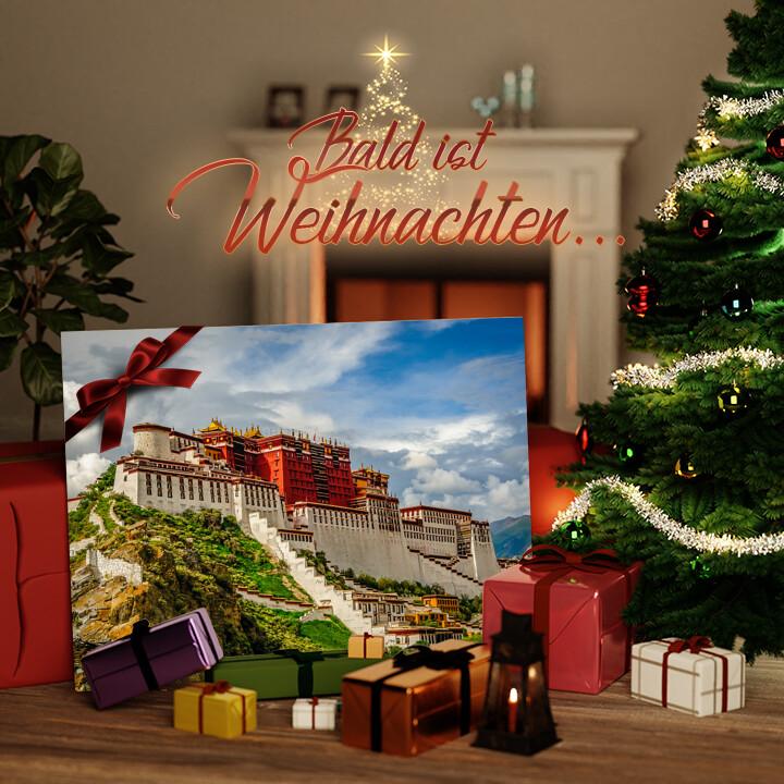 Liebesleinwand zu Weichnachten Portala Palast in Tibet